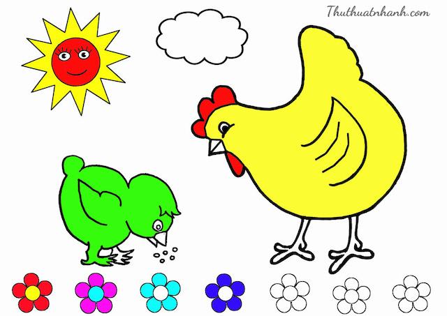 cach ve con ga don gian 2 - Hướng dẫn cách vẽ con gà đơn giản với 8 bước cơ bản