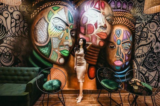 ve tranh tuong quan cafe 0474123109 - Vẽ tranh tường quán Cafe 2d, 3d cực đẹp theo yêu cầu đảm bảo tiến độ