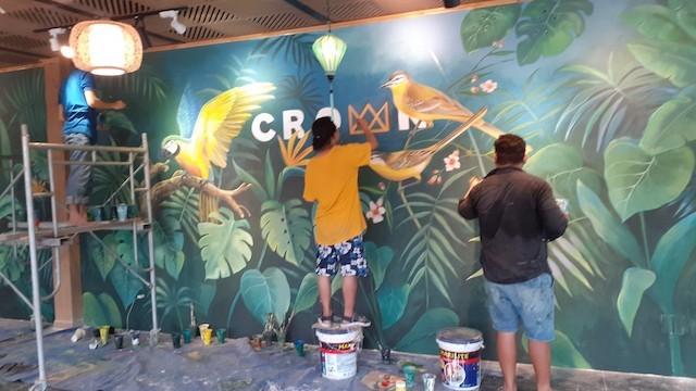 ve tranh tuong quan cafe e4384ce9b4674f9d270 - Vẽ tranh tường quán Cafe 2d, 3d cực đẹp theo yêu cầu đảm bảo tiến độ